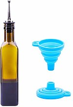 Olive Oil Bottles Set with Pourer and Funnel –