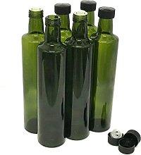Olive Oil Bottles with Cap & Pourer Fitment,