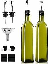 Olive Oil Dispenser Bottle 2PCS 500ML Spout