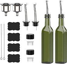 Olive Oil Dispenser Bottle, 500ml Glass Cooking