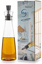Olive Oil Dispenser.Glass Bottles and Pourer Spout