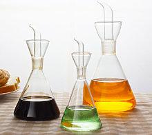 Olive Oil Glass Bottle Vinegar Dispenser Cruet