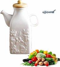 Olive Oil Pourer, Tabletop Oil Jar, Pure White