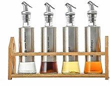 Olive Vinegar Oil Bottles Set, 300ml Stainless