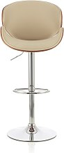 Oliver Bar Stool In Walnut And Cream PU With