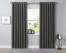 Olivia Rocco Blackout Eyelet Curtains Black Out