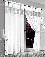 Olivia Rocco Diamante Blackout Eyelet Curtains