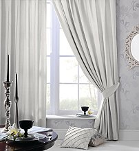 Olivia Rocco Faux Silk Ring Top Eyelet Curtains,
