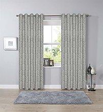Olivia Rocco Savoy Jacqaurd Curtains Ring Top
