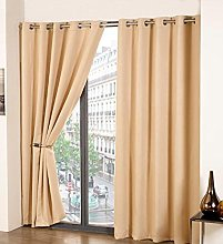 Olivia Rocco Thermal Blackout Eyelet Curtain Pair,