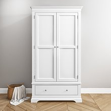 Olivia White 2 Door 1 Drawer Wardrobe