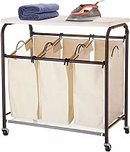 Ollieroo Classic Rolling Laundry Sorter Cart Heavy