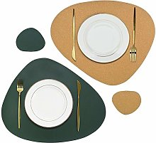 Olrla Cork and PU Leather Dual Sided Placemat and