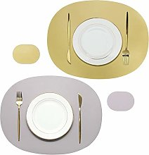 Olrla Dual Sided Oval Placemats and Coasters, 2