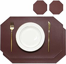Olrla Octagon Placemats and Coasters Set of 2,