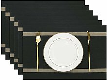 Olrla Placemats Set of 6, 30x45cm Washable Dining