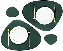 Olrla PU Leather Oval Table Mats, 2 Placemats