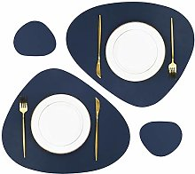 Olrla PU Leather Oval Table Mats, 2 Placemats and