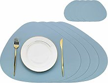 Olrla PU Leather Placemats and Coasters Set,4