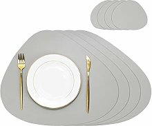 Olrla PU Leather Placemats and Coasters Set, 4