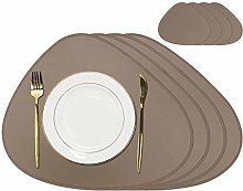 Olrla Pu Leather Placemats and Coasters, Sets of 4