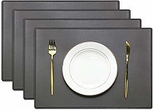 Olrla PU Leather Placemats Sets of 4, Waterproof