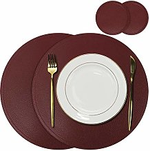 Olrla Round Pu Leather Placemats and Coasters sets