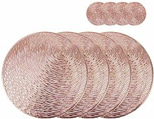 Olrla Round Rose Gold PlaceMats and Coasters Sets