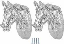 Omabeta Horse Head Handle 2 Sets Modern Stylish