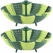 Omabeta Plastic shape Foldable Steaming Basket
