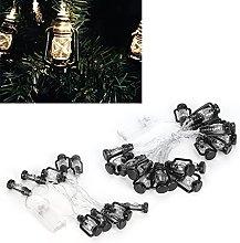 Omabeta String Lights, Plastic Kerosene Lamp Shape