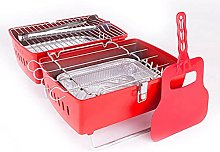 OMAC Charcoal Barbecue Portable Folding Grill Red