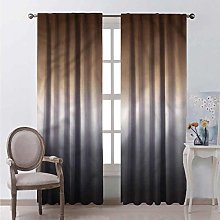 Ombre 99% blackout curtains Brown and Grey Pattern
