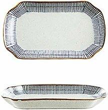 Omenluck 1Pc Ceramic Plate Dinner Plates Durable
