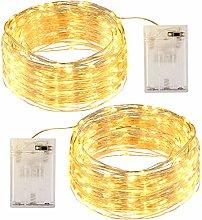 OMERIL Fairy Lights, 2 Pack 12M 120LEDs String