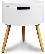 OMIDM Bedside table Net Red Creative Small Round