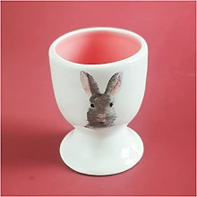 OMING Egg cup Ceramic Bunny Egg Cup, Egg Tray, Can