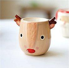 OMING Egg cup Santa Claus Ceramic Elk Creative Egg