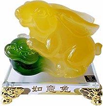 OMING Statues Rabbit Decoration Zodiac Statue Gift