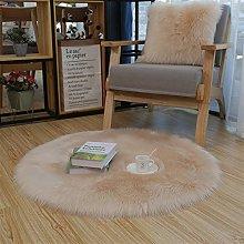 Ommda Faux Fur Rug Sheepskin for Living Room Round