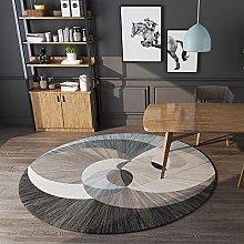 Ommda Modern Abstract Geometric Round Area Rug