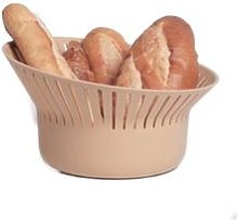 Ommo - Ruff Bread Basket & Strainer - Mauve - Green