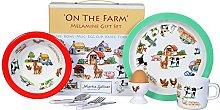 On the Farm 7 Piece Melamine Gift Se