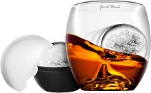 On the Rocks Glass & Ice Ball Mould   Novelty