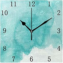 One Bear Vintage Teal Wall Clock Turquoise Green