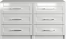 One Call Colby Gloss 3+3 Drawer Chest of Drawers -