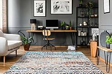 One Couture Colourful Rug Ethnic Aztec Design for