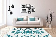 One Couture Flat Pile Rug Ethno Mayo Aztec Design
