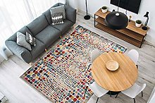 One Couture Rug Modern Colourful with Fringes