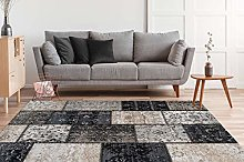 One Couture Silver Grey Flat Pile Carpets Modern